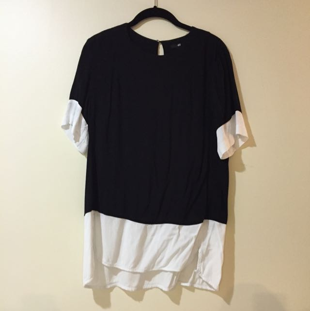 H&M Contrast Dress Top