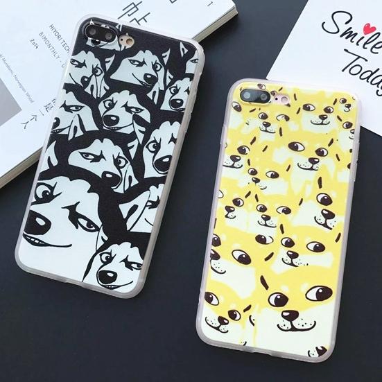 卡通神煩狗搞笑柴犬二哈蘋果iphone6s手機殼7plus全包軟邊硬殼