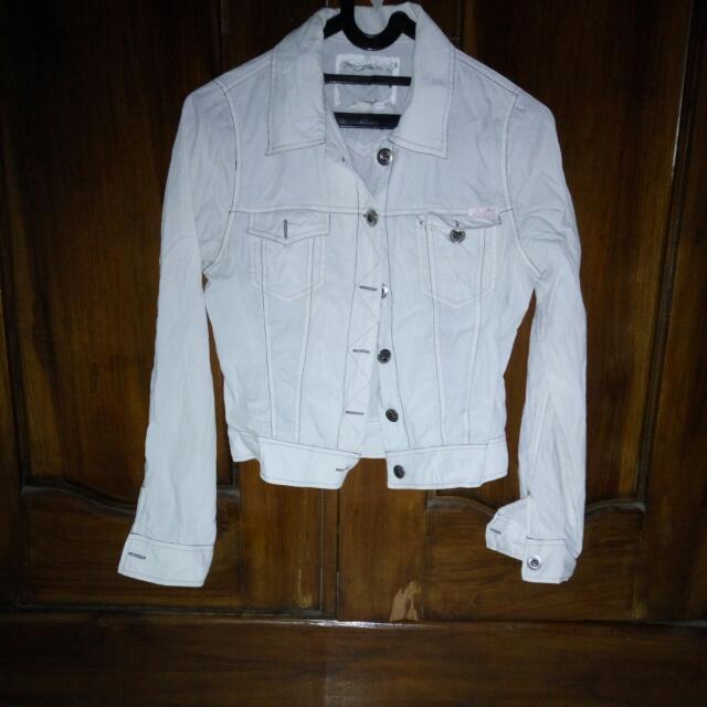 Jaket White Shane Jeans