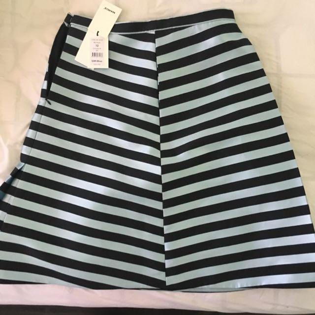 Marcs Black/Aqua Skirt SIZE 12