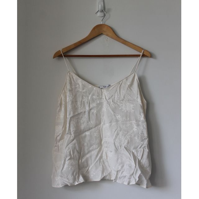 MNG white floral singlet
