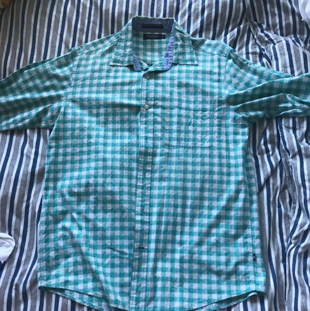 Nautica Men's Check Long Sleeve Shirt