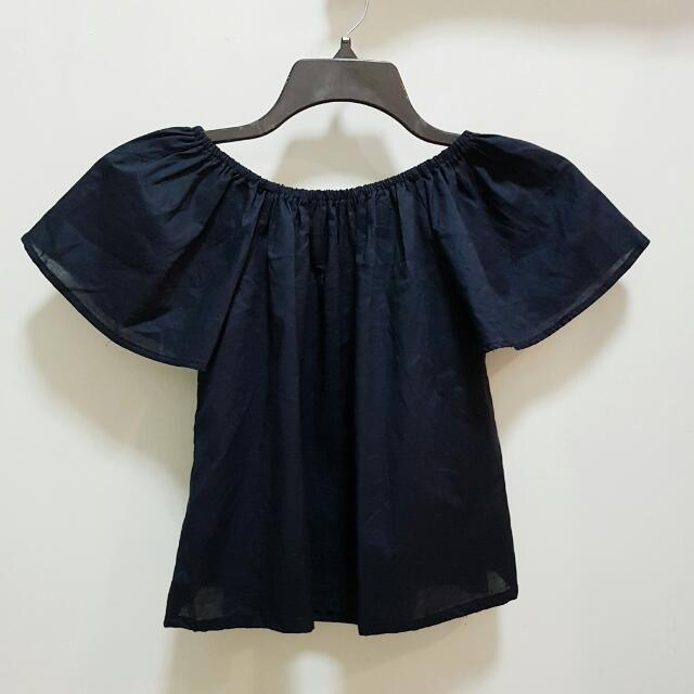 REPRICED!!! NAVY BLUE Off Shoulders