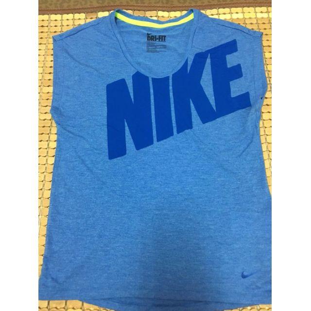 Nike 女款 藍色字母t DRI-FIT