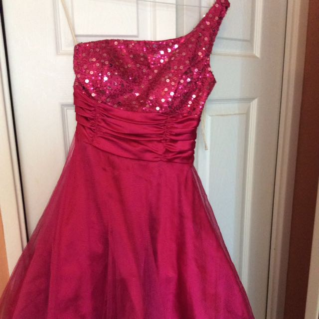 Short Pink One Shoulder Party Dress