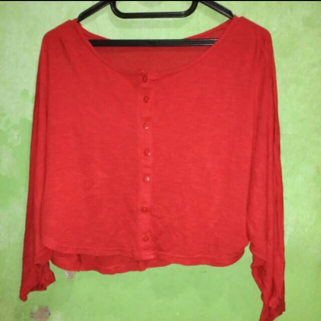 Preloved Crop Top Red
