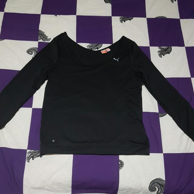 Puma Sports Longsleeve Top Charcoal Grey L/14