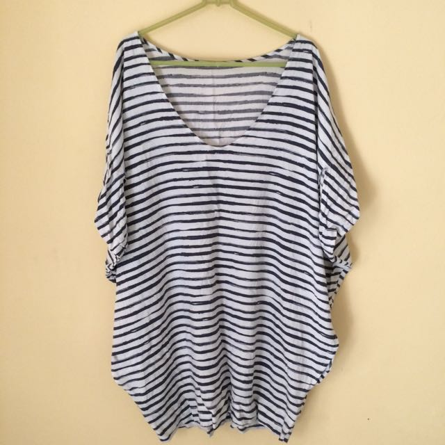Stripes Over Sized Blouse