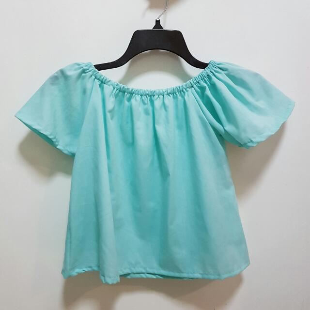 REPRICED!!! TEAL Off Shoulders