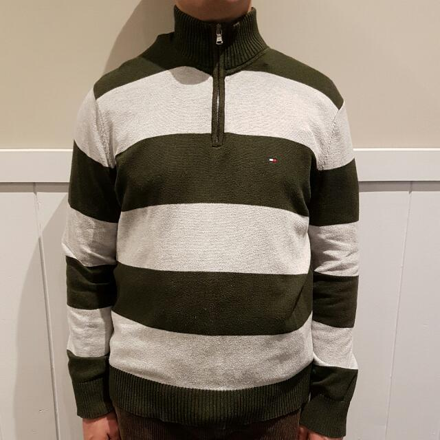 Tommy Hilfiger Men's Zip-neck Jumper - Size L