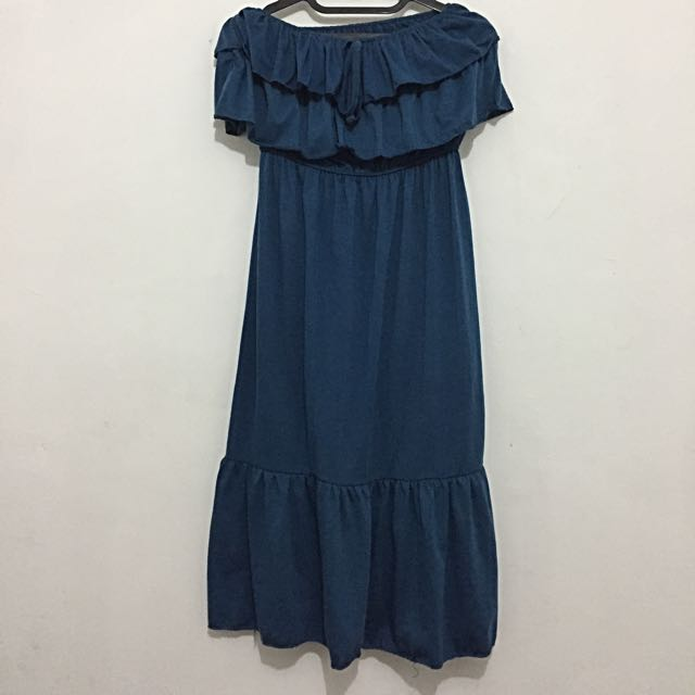 Tube Dress Blue