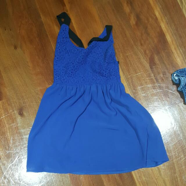 VALLEYGIRL Lace Blue Dress