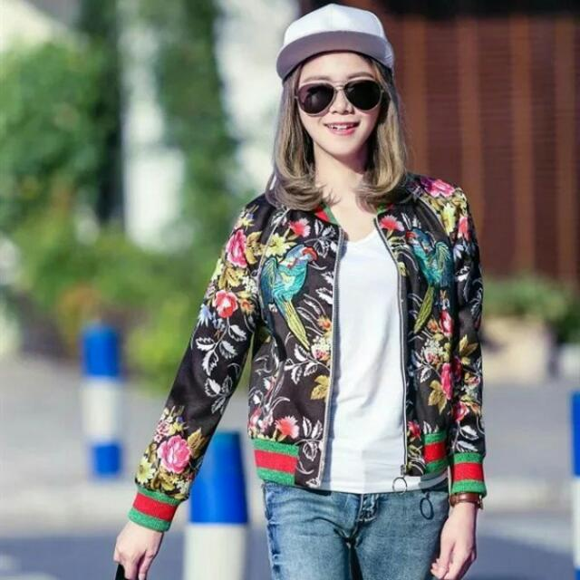 WST 15053 Signature Embroidered Bomber Jacket