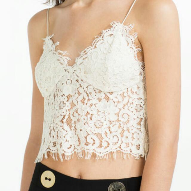 *ON HOLD* Zara Lace Top. Size XS. REF 4876/045