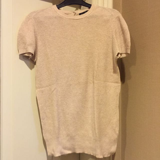 Zara Nude Knit Top