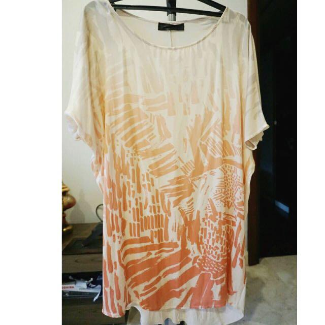 Zara Orange Basic T-Shirt Special Garments