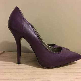 Purple Stilettos Size 8.5 Or 9