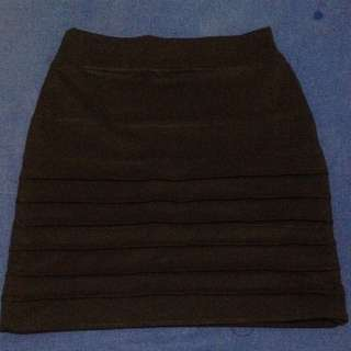 Strecth Black Skirt