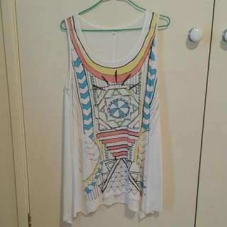 Valleygirl Coloured Singlet