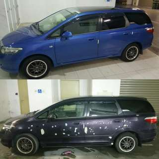 2k Automotive Spray Service @ 7 Angelz Singapore A Renewed Coe Honda Airwave With A New Makeover. We Welcome All Car Owners, Dealers, Uber And Grab Car Drivers... Full Makeover.. Accident And Repair.. No Job Too Big Or Small...