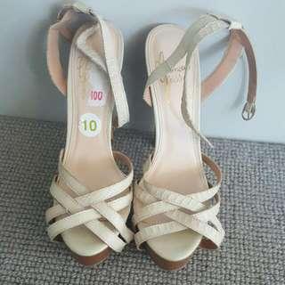 Beige Sandals - Size 10