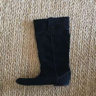 Bardot Suede Boots Size 8