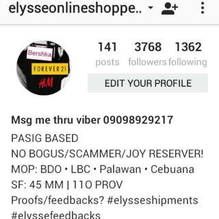 PROOFS AND FEEDBACKS? Follow my Shop in Instagram. :)