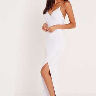 White Chain Strapped Formal Maxi