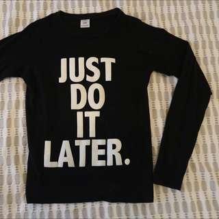 procrastinator shirt, long sleeve