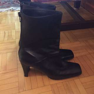 Black  Boots (size 8 1/2)