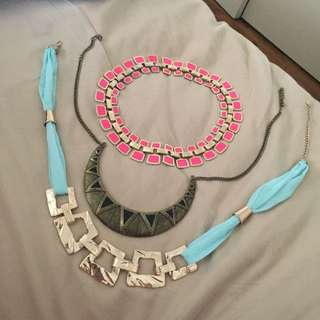 3 x Accessory Necklaces