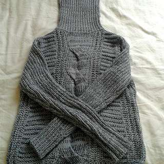 Grey Winter Turtle Neck Sweater