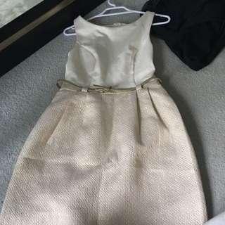 Forever New Cream Dress