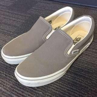 Grey Vans Slip On