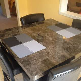 Pub Style Marble Dining Table