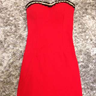 全新 聖誕Party 平口洋裝 紅色 S號