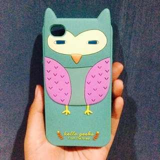 Owl Rubber Case ip4