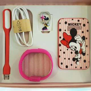 Minnie Mouse Powerbank Gift Set