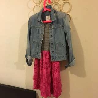 ROXY 牛仔外套+洋裝
