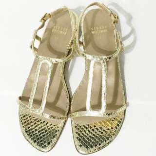 Stuart Weitzman Gold Summer Sandals