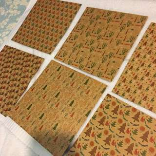 $2 Each Assorted Craft Papers 20cm x 20cm