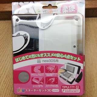 🚚 New 3ds 保護殼 透明柔硬版