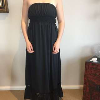 Ladakh Black Maxi Dress