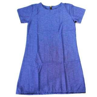 🌺NEW🌺RHB-D004 Plain Zipback Dress