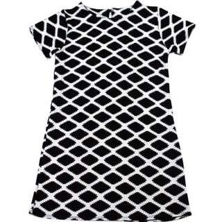 🌺NEW🌺RHB-D006 Geometric Pattern Zipback Dress