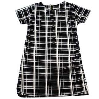 🌺NEW🌺RHB-D007 Plaid Zipback Dress