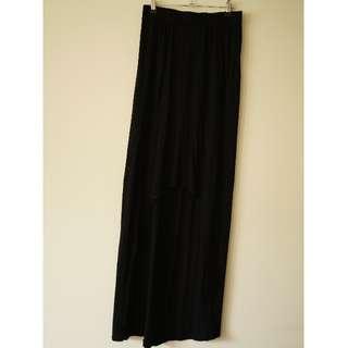 Boohoo high low maxi skirt.