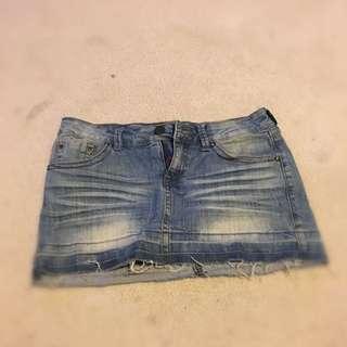 Denim Mini Skirt Size 8 Mango