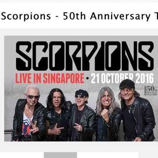 Scorpions Standing Pen Ticket x1