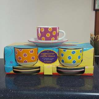 Cappuccino Cup & Saucer (4 Sets New)